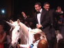 The couple rode into their wedding on a unicorn