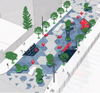 Plans have been drawn up for a 'leather-themed' plaza
