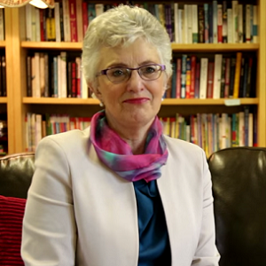Senator Katherine Zappone has challenged an opponent to a debate on equal marriage