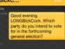 Grindr users were polled ahead of next week's general election