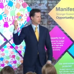 The Lib Dems launched their manifesto today