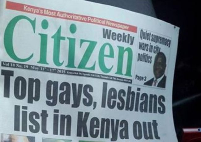 Kenya gay list newspaper