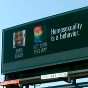 The billboard has appeared in places in Michigan.