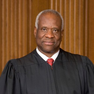 Justice Clarence Thomas's marriage would have once upon a time been illegal.