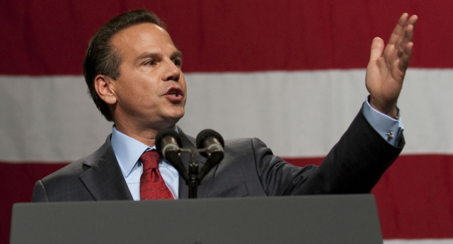 Representative David Cicilline is reportedly reading a new LGBT rights law (Photo by JIM WATSON/AFP/Getty Images)