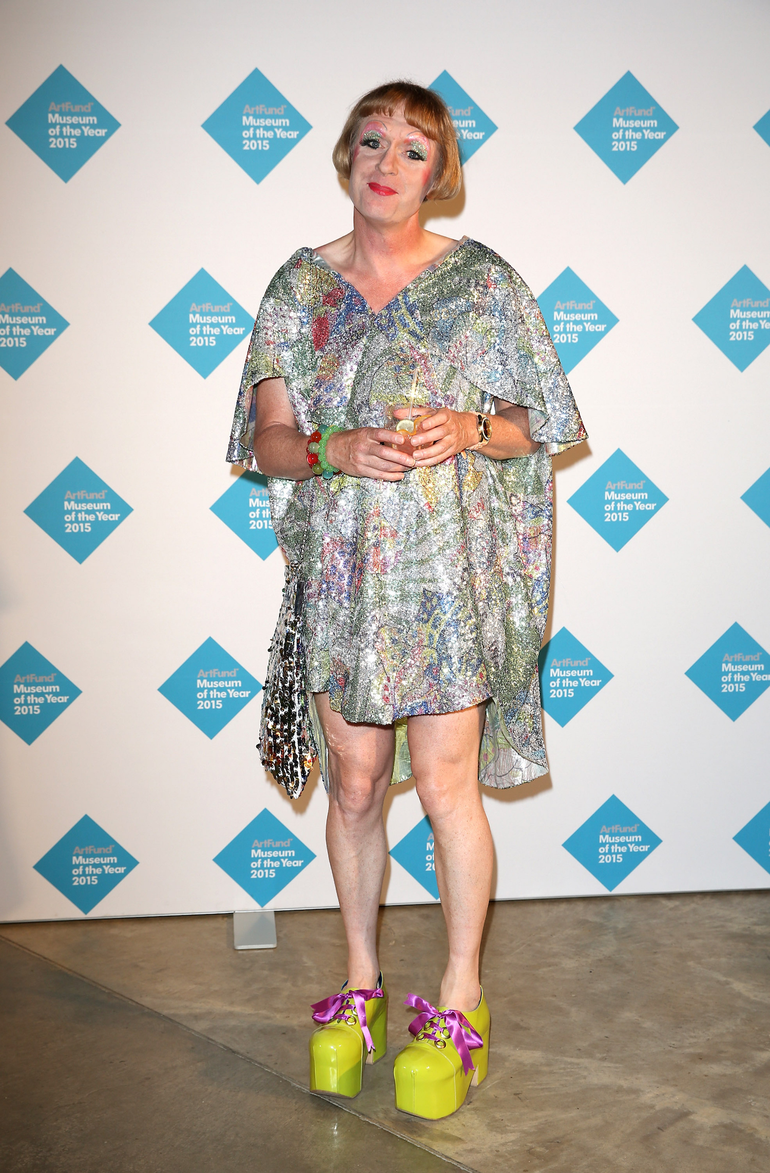 LONDON, ENGLAND - JULY 01:  Grayson Perry attends the announcement of the winner of the UK's largest arts prize - the £100,000 Art Fund Prize for Museum of the Year, presented by Ben Okri at Tate Modern on July 1, 2015 in London, England.  (Photo by Tim P. Whitby/Getty Images for The Art Fund)