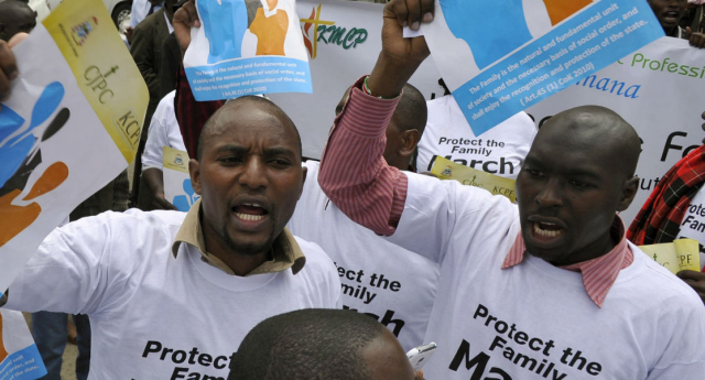 Protests have been taking place in the lead up to President Obama's visit (SIMON MAINA/AFP/Getty Images)