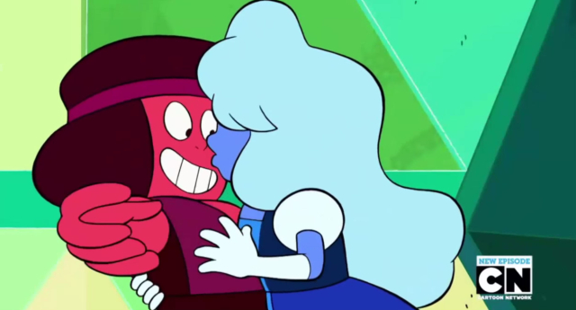 A romance between two characters on Steven Universe has been confirmed