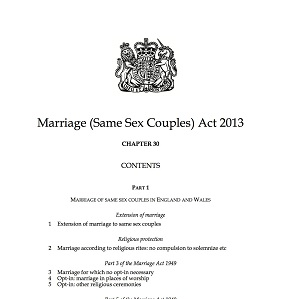 The Marriage (Same-Sex Couples) Act