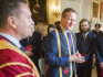 David Cameron was honoured in a special ceremony yesterday