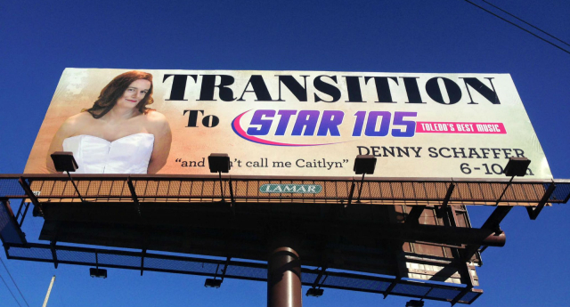 This billboard went up in a town where a trans woman was nearly beaten to death