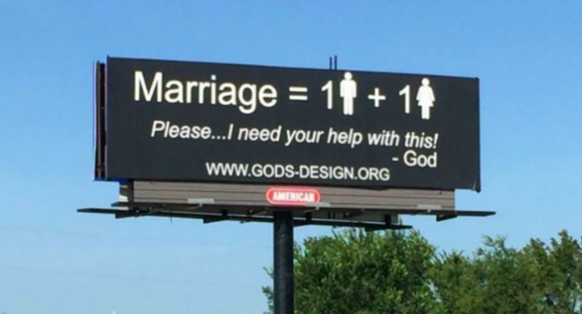 The ministry vowed to erect another 999 of the same billboard across the US