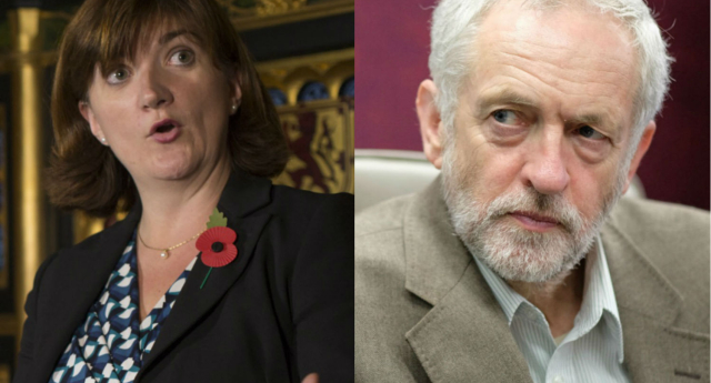 Nicky Morgan has challenged Jeremy Corbyn's women only carriages idea