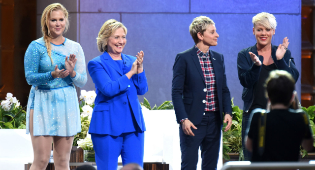 Hillary Clinton on The Ellen DeGeneres Show (Dave Kotinsky/Getty Images