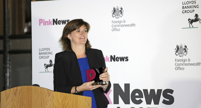 Nicky Morgan presented the PinkNews Award (Photos by Chris Jepson)