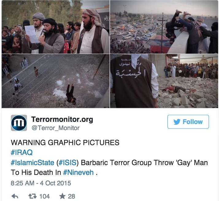 ISIS continues to target gays with brutal executions