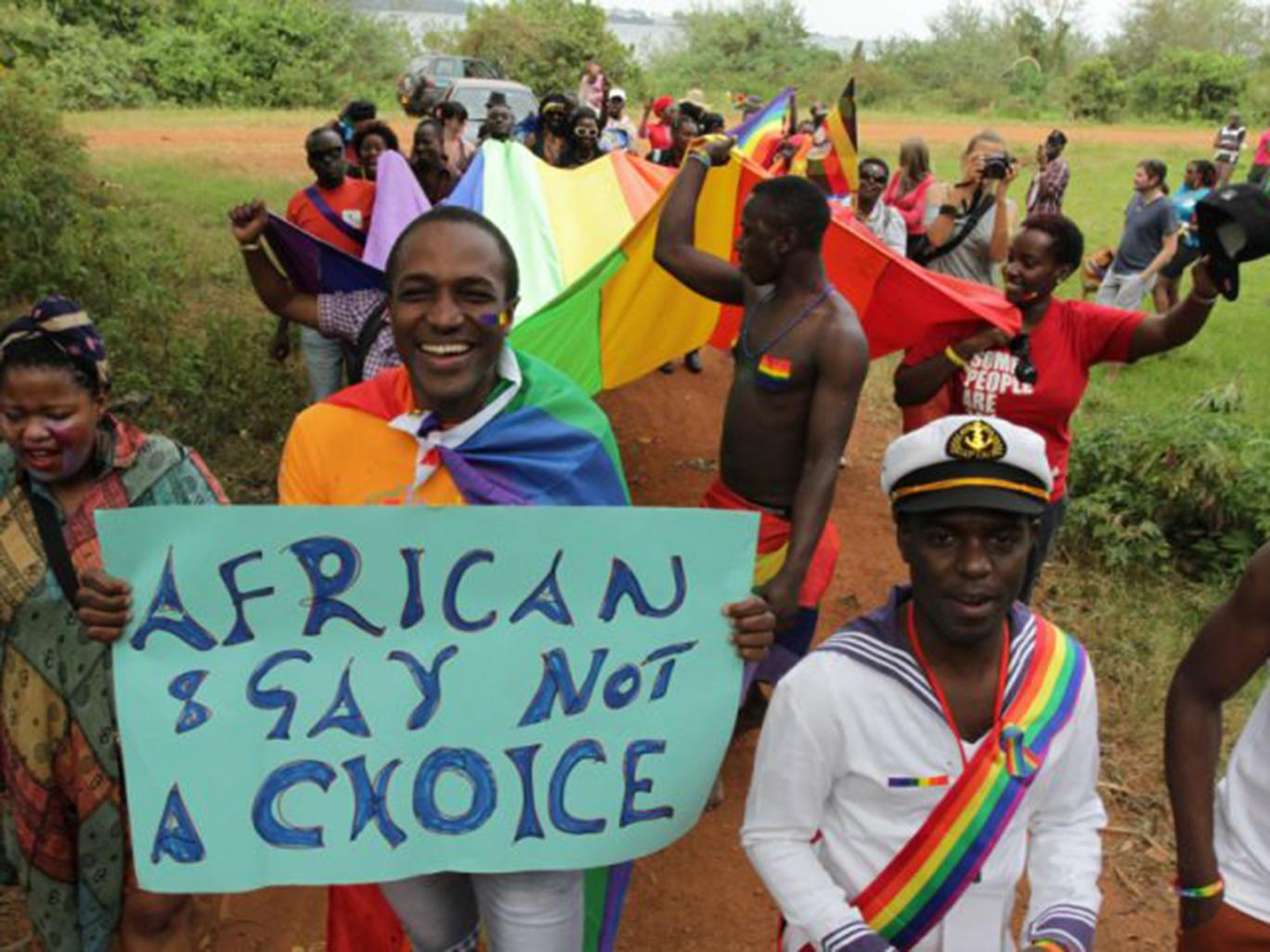 African pro LGBT protest