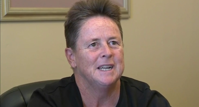 Cathy Figel says her employer failed to investigate homophobia (KCAL Video)