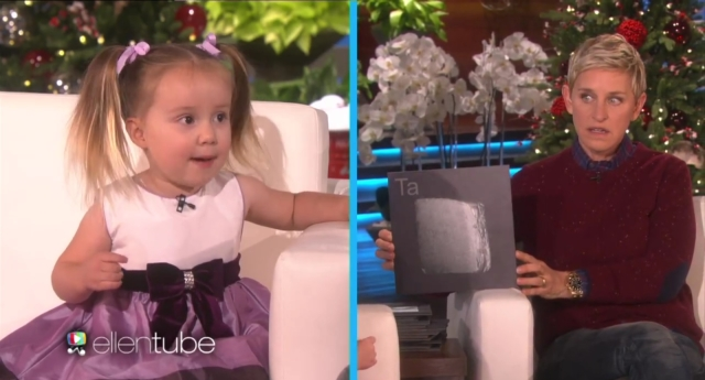 Watch this three year old genius outsmarted ellen degeneres pinknews brielle has an amazing ability urtaz Image collections