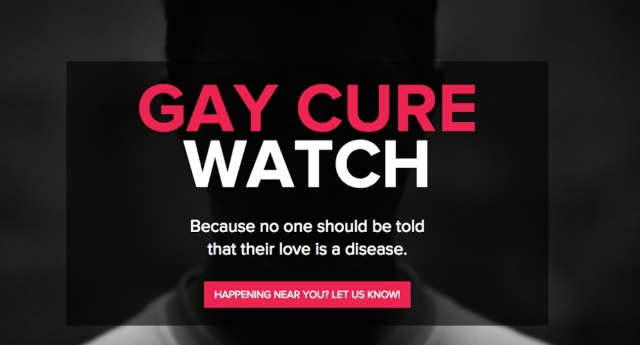 The new tool allows users to report gay 'cure' therapies