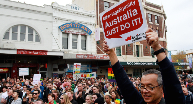 An Australian lobby group called on an MP to apologise for calling gay marriage opponents 'bigots'