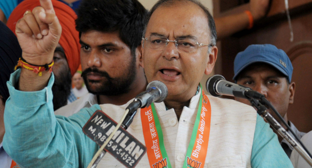 Arun Jaitley says India cannot simply 'nudge off' its LGBT community (NARINDER NANU/AFP/Getty Images)