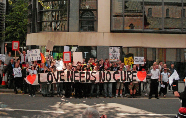 Protest against gay 'cure' therapy