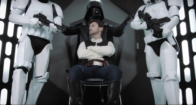 The Star Wars porn parody was released this week