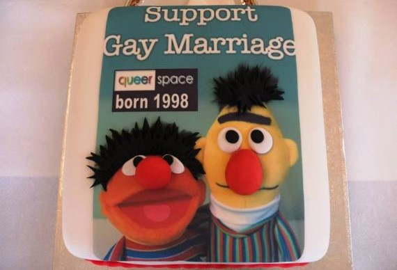 Cake with a pro-gay message