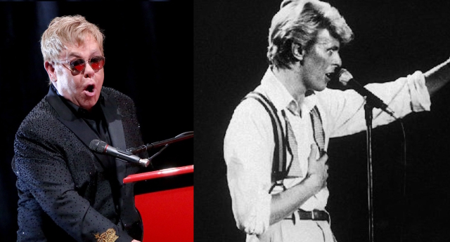 Sir Elton and David Bowie fell out in 1976