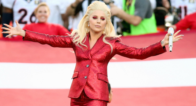 Lady Gaga stunned the crowd at this weekend's Superbowl (Getty Images)