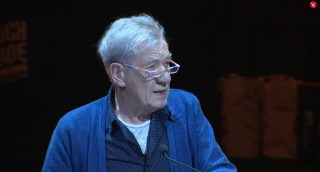 Sir Ian McKellen read out the beautiful letter