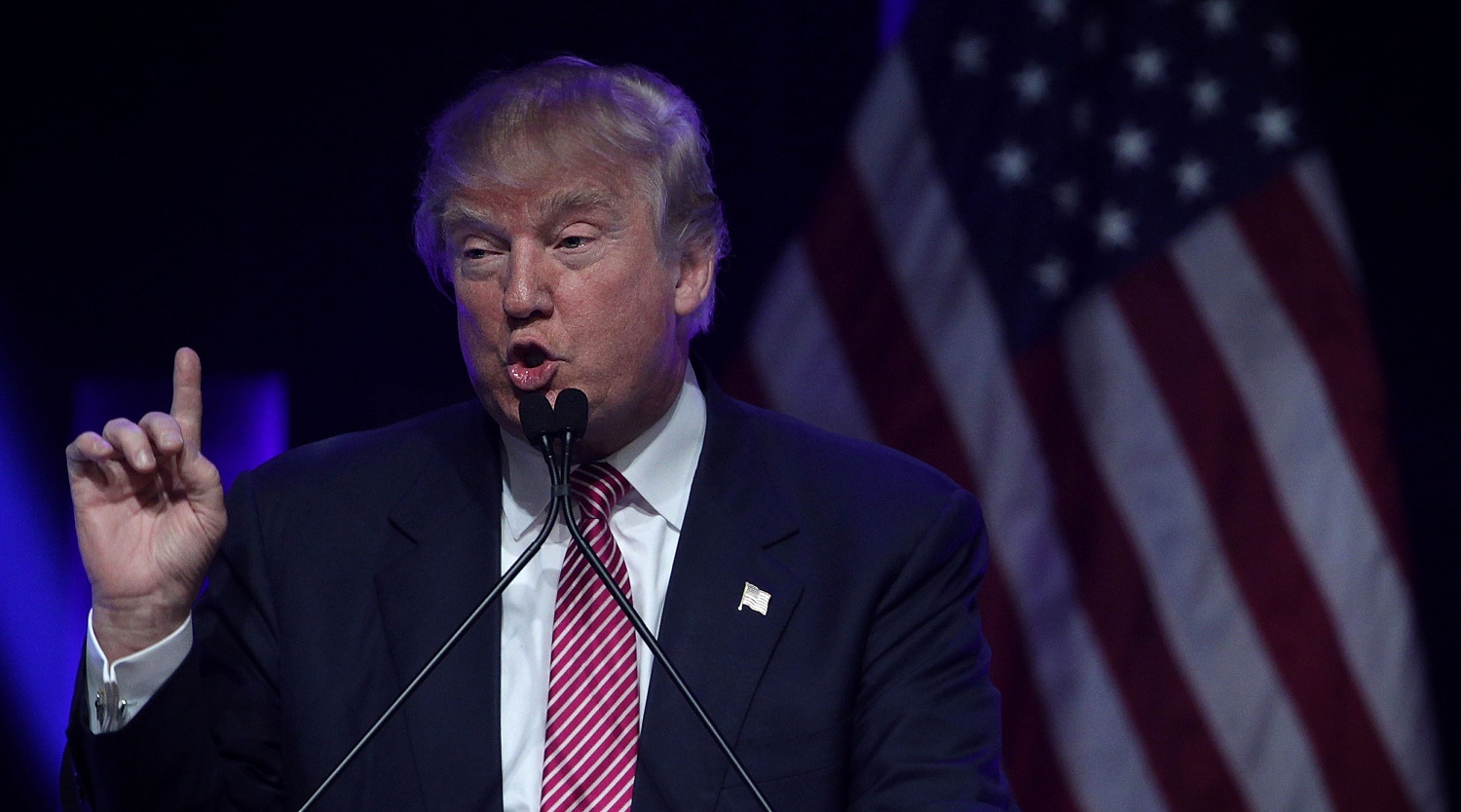 GOP Presidential Candidate Donald Trump Campaigns In Greenville, South Carolina