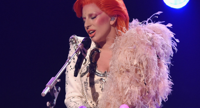 Lady Gaga performed a number of Bowie hits (Getty Images)