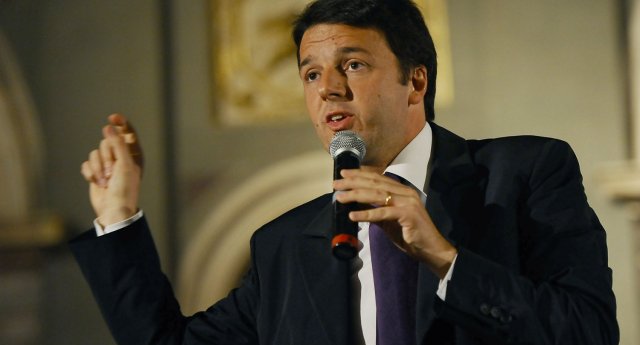 Matteo Renzi will drop adoption rights from the civil unions bill (Getty Images)