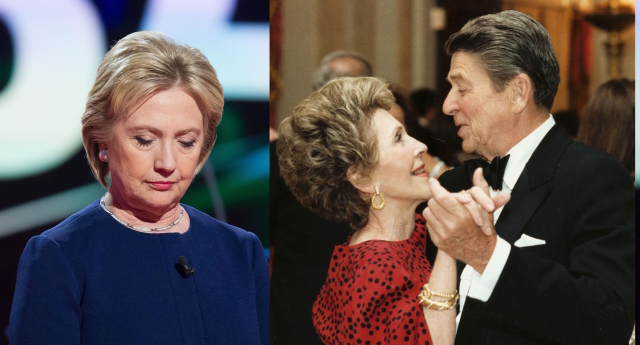 hillary clinton doubles down on apology over reagans aids history