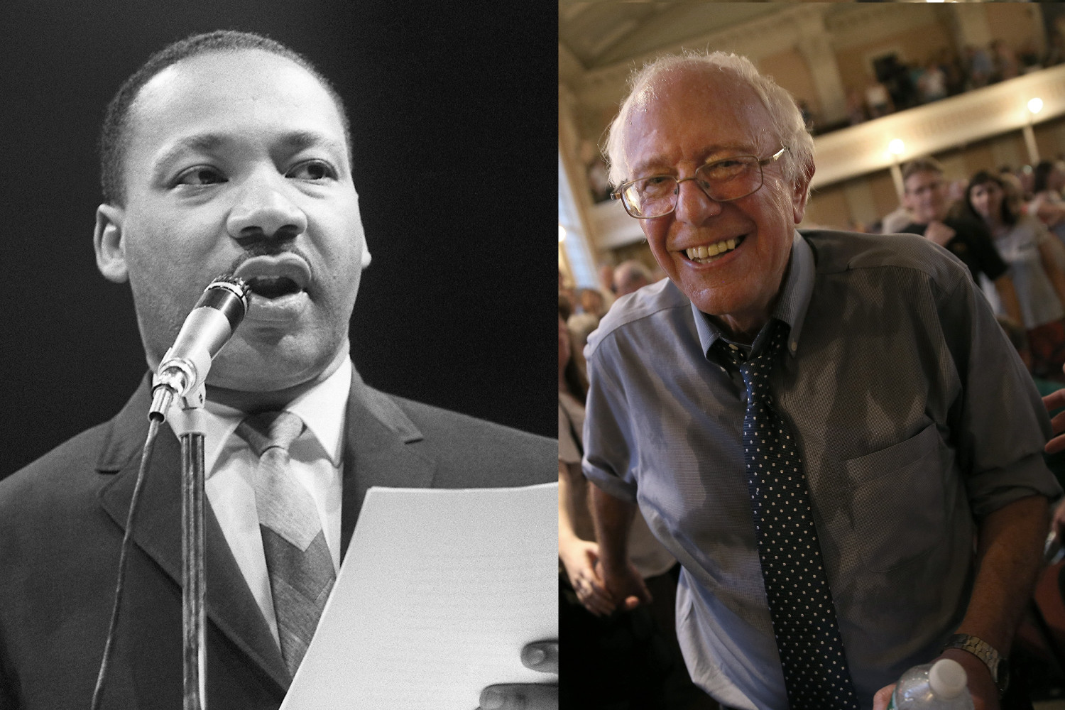 Bernie Sanders invoked Martin Luther King Jr in his assertion that he would repeal anti-LGBT laws (Images: Getty - under licence)