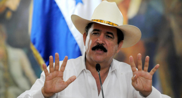 Manuel Zelaya was toppled during a military coup in 2009 (Image: Getty - under licence)