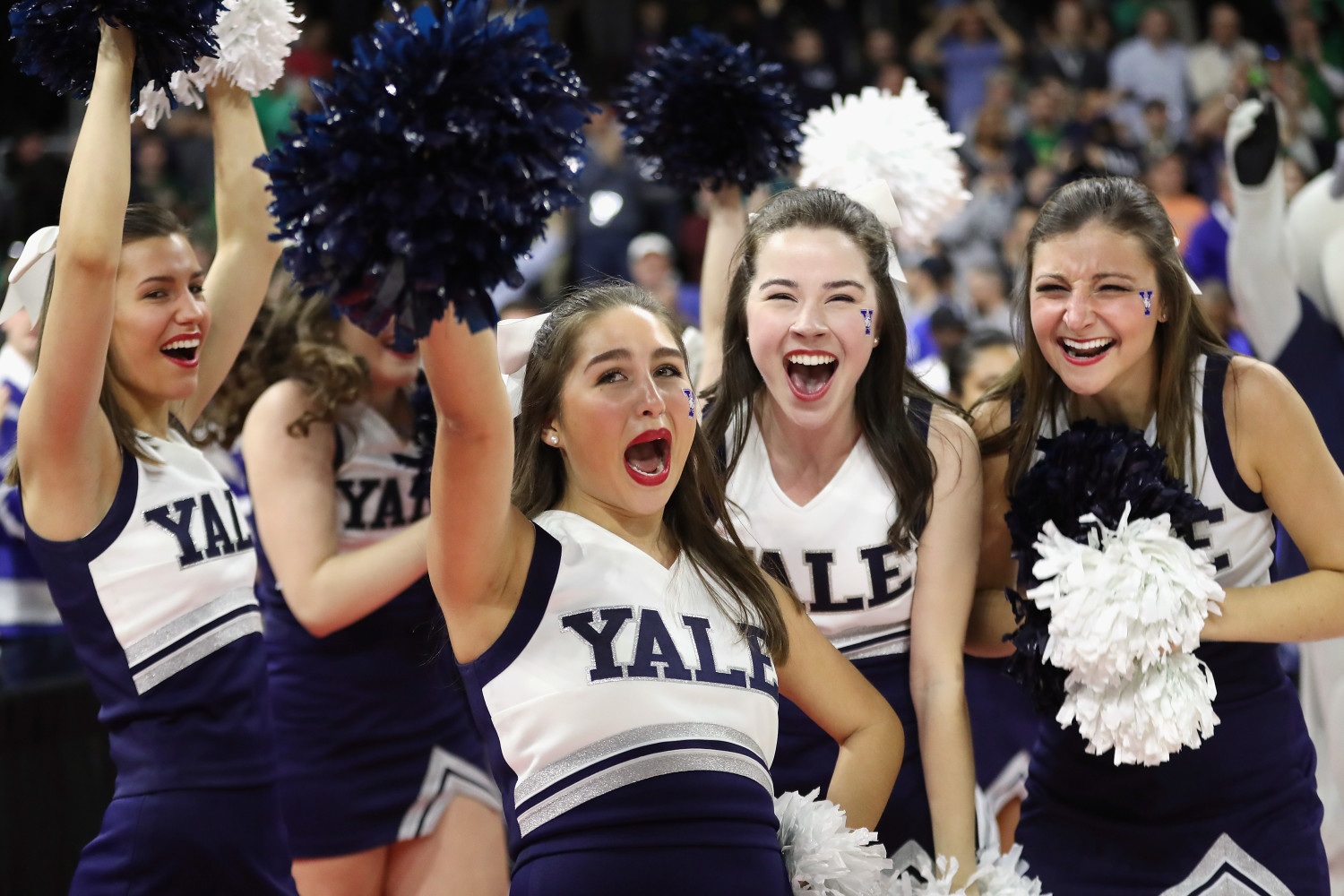 Cheerleaders from Yale (Getty Images)