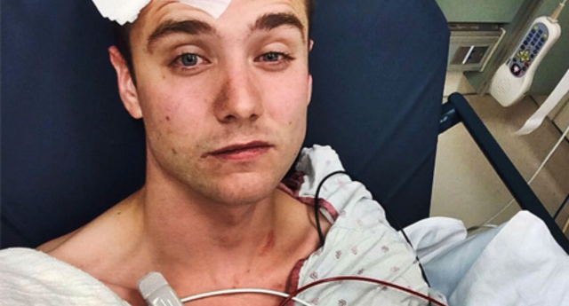 The YouTube star uploaded the image following the attack (Instagram)