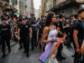 Police fired rubber bullets and tear gas at Pride marchers who rallied despite it being cancelled in 2015
