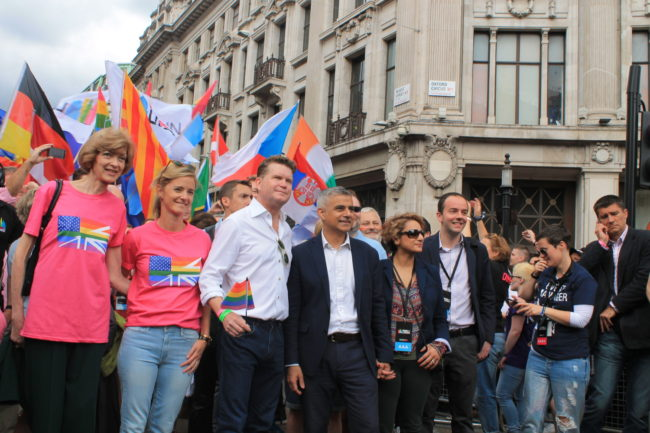 Sadiq Khan at Pride in London