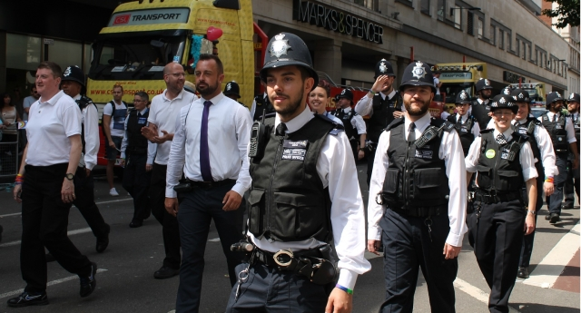 Met officers march at Pride in London (Photo by Nick Duffy)
