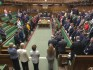 Parliament held a minute of silence