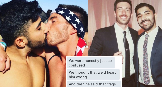 The couple were kicked out of an Uber for kissing