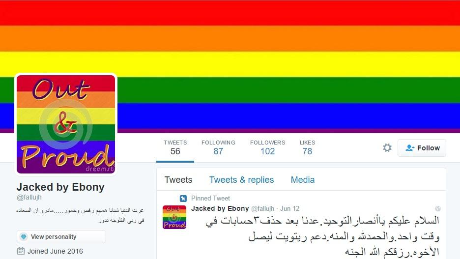 Screenshot of Twitter account taken over by pro-LGBT hackers