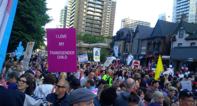 Thousands turned out for the trans march in Toronto