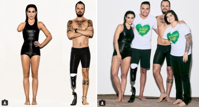The actors took the place of the Paralympians in the photoshoot