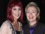 Cher and Hillary Clinton