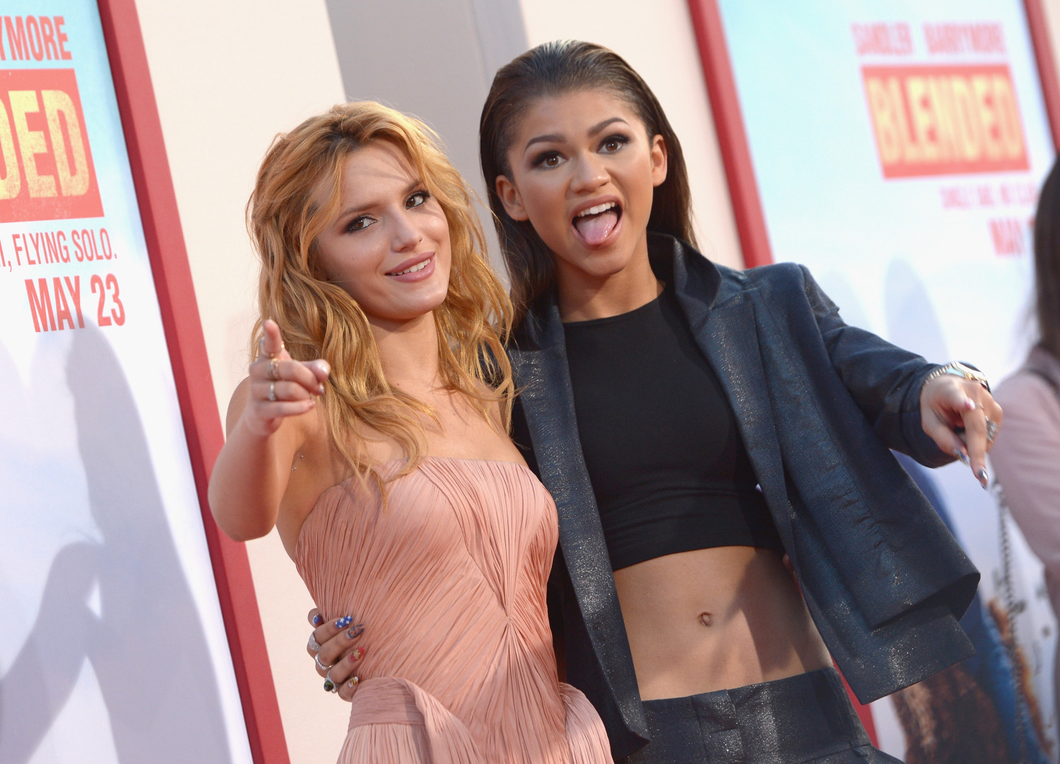 """Bella Thorne and Zendaya attend the """"Blended"""" premiere (Getty Images)"""